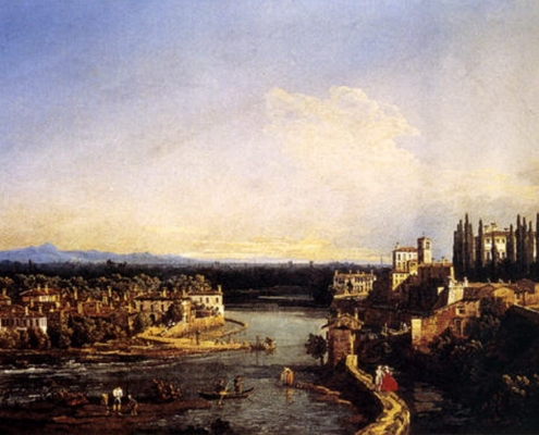 Bernardo Bellotto - Vaprio e Canonica verso sud