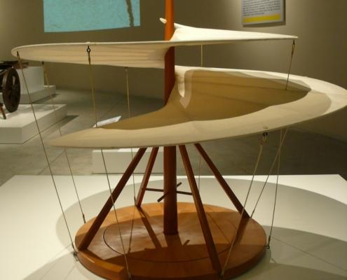 Leonardo - macchina volante vite aerea